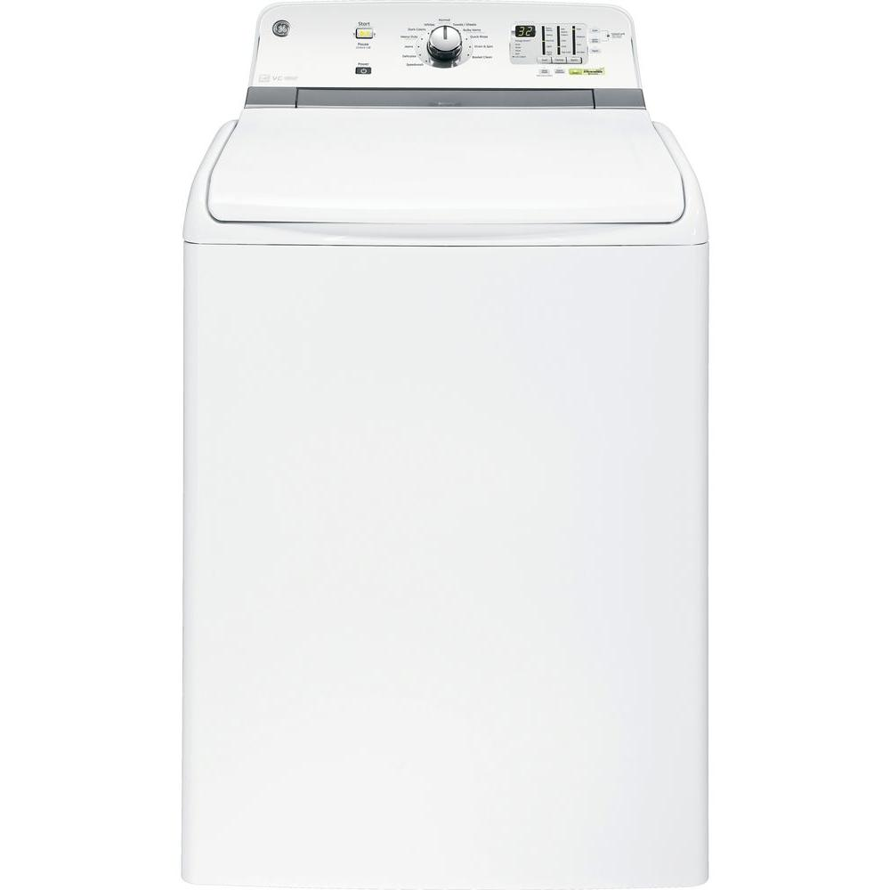 GE 5.0 cu. ft. High-Efficiency Top Load Washer in White, ENERGY STAR