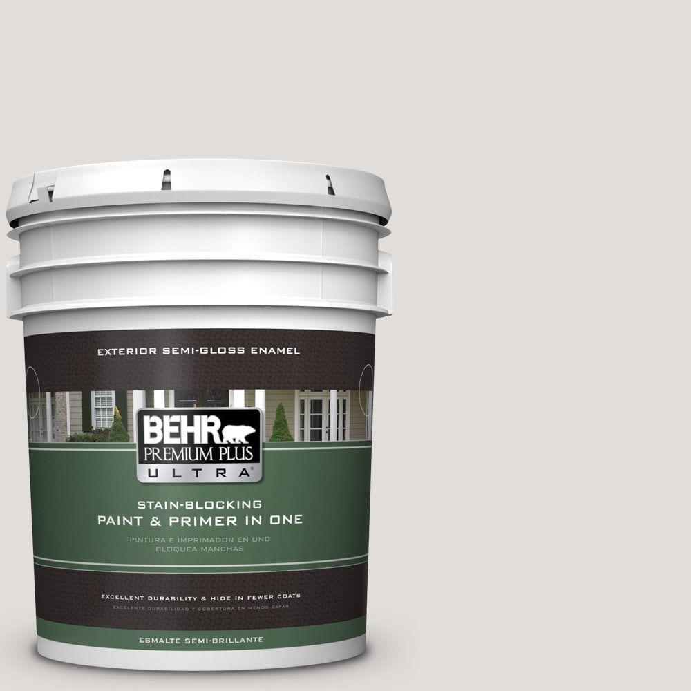 BEHR Premium Plus Ultra 5-gal. #PWN-63 Abalone Shell Semi-Gloss Enamel Exterior Paint