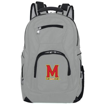 NCAA Maryland Terrapins 19 in. Gray Laptop Backpack