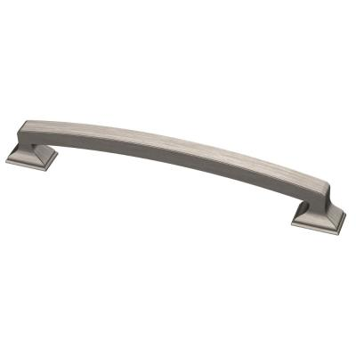 Classic Edge 6-5/16 in. (160mm) Center-to-Center Heirloom Silver Drawer Pull