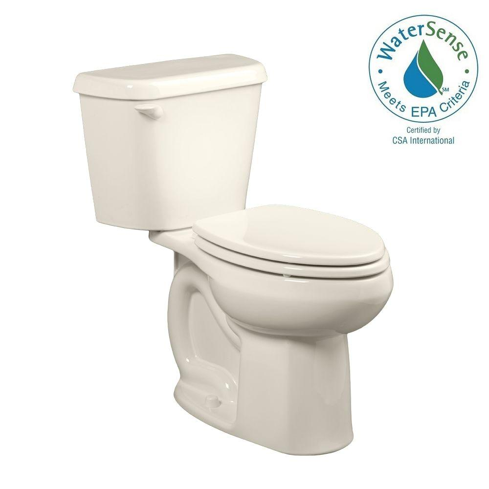 Colony 2-piece 1.28 GPF Single Flush High-Efficiency Elongated Toilet in Linen