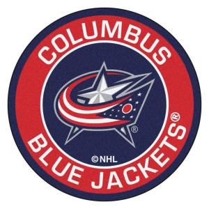 NHL Columbus Blue Jackets Red 2 ft. x 2 ft. Round Area Rug