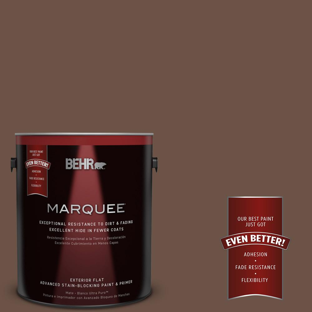 BEHR MARQUEE 1-gal. #MQ2-5 Well Bred Brown Flat Exterior Paint