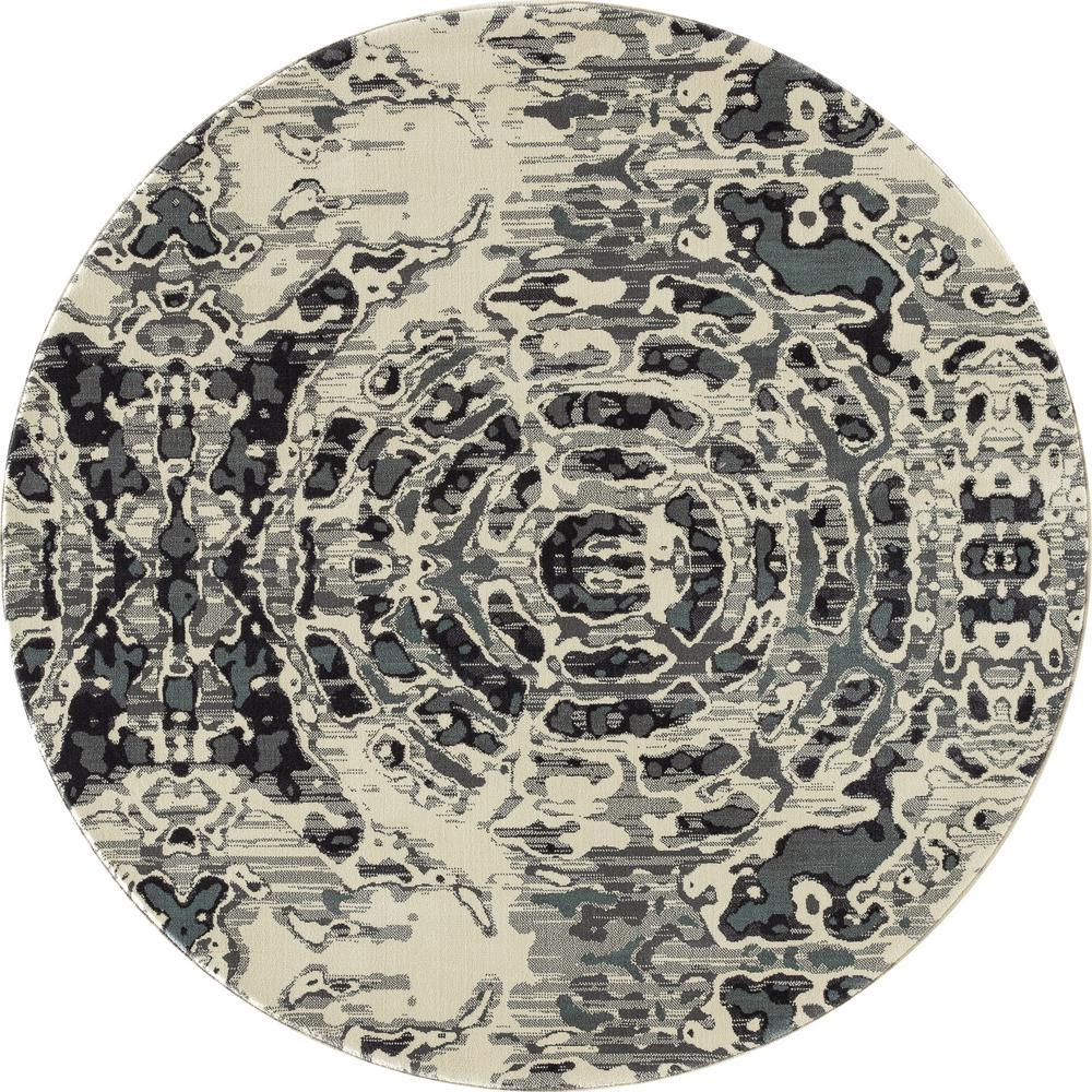 Art Carpet Daytona Radial Gray 7 Ft 10 In X 7 Ft 10 In