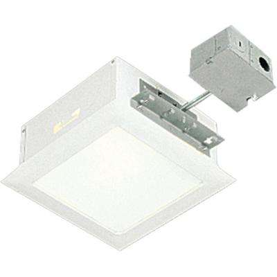 9.5 in. White Square Recessed Lighting Housing and Trim