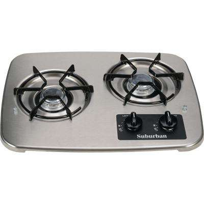 2-Burner Drop-In Cooktop in Stainless Steel