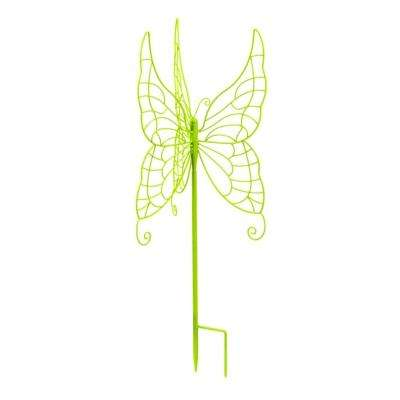 28 in. Green Butterfly Gazing Ball Stand