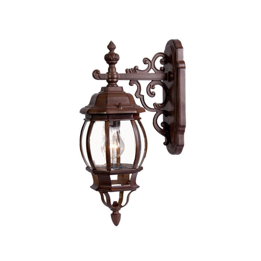 Acclaim Lighting Chateau Collection 1-Light Burled Walnut Outdoor Wall-Mount Light Fixture