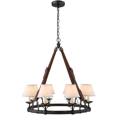 Cascade 8-Light Bronze Pendant Lamp