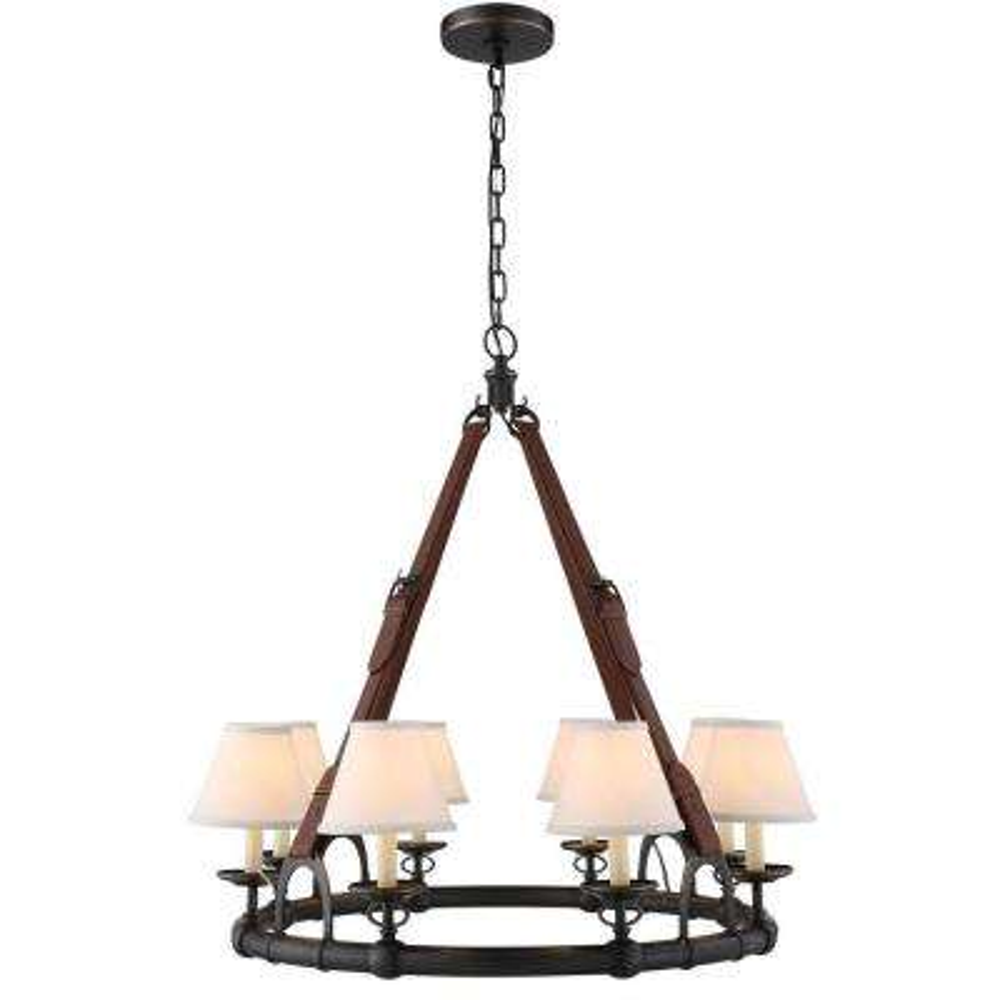 Cascade 8-Light Bronze Pendant Lamp
