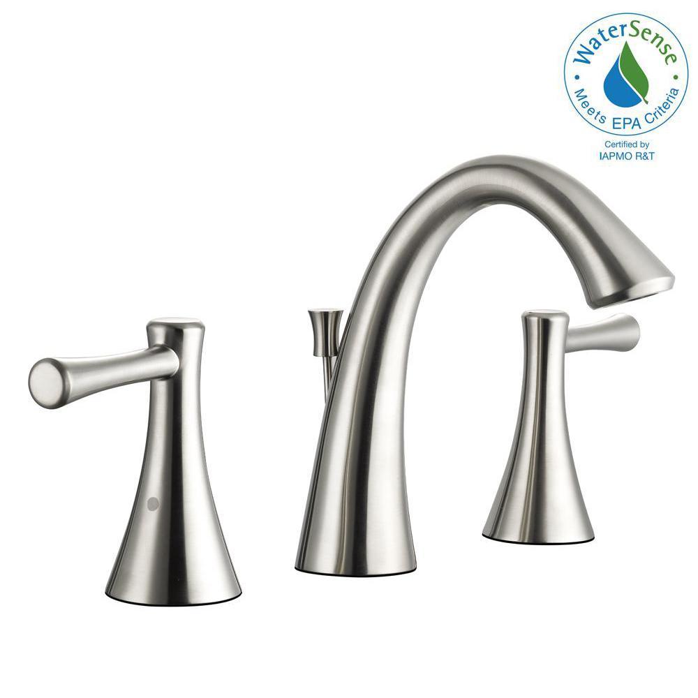 Glacier Bay Venue 8 In Widespread 2 Handle High Arc Bathroom Faucet