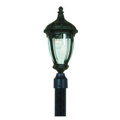 Kahley 1-Light Outdoor Oil-Rubbed Bronze Post Lantern