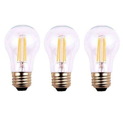 40-Watt Equivalent A19 Dimmable Clear Filament Vintage Style LED Light Bulb Soft White (3-Pack)