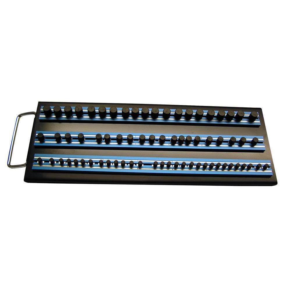 3-14 in. Blue Magrail Socket Tray