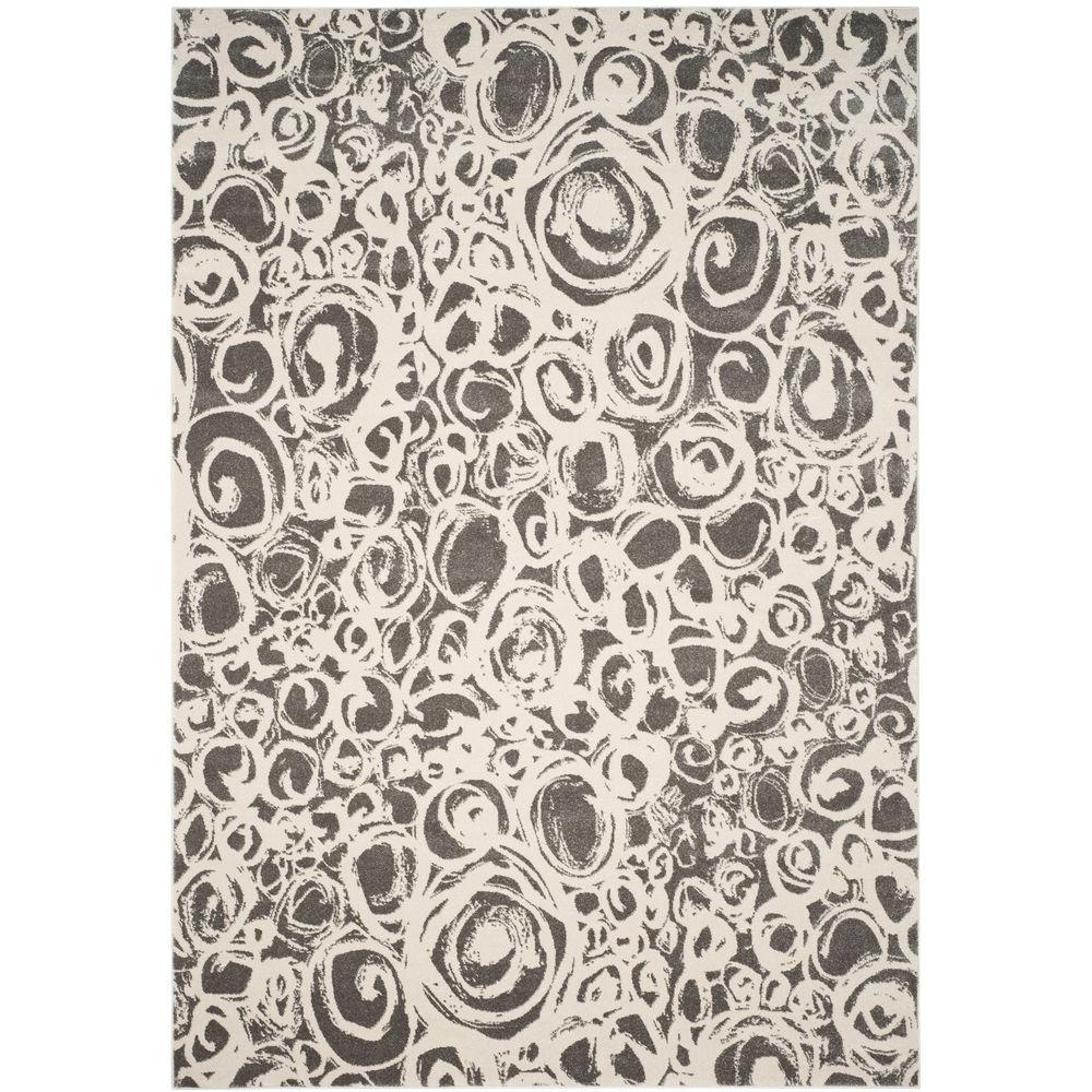 Porcello Dark Grey/Ivory 8 ft. x 11 ft. 2 in. Area