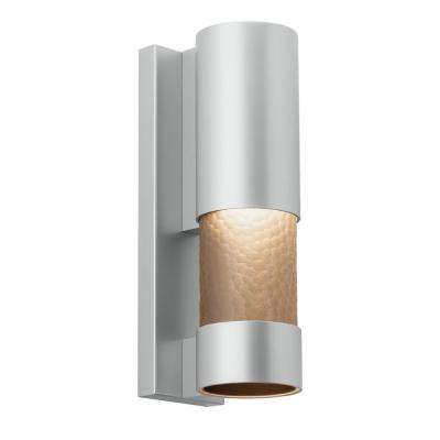 Moon Dance 18 in. Silver Outdoor LED Sconce