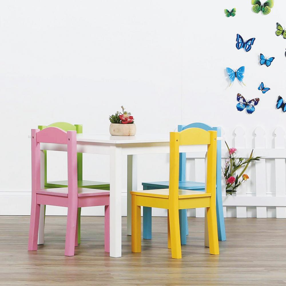 Tot Tutors Pastel 5 Piece Kids Table And Chair Set TC714   The Home Depot