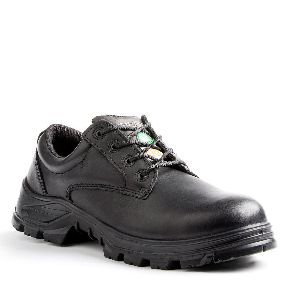 Terra Albany Men's Size 7 Black Leather Safety Shoe, Blacks