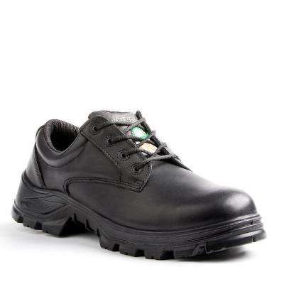 Albany Men's Size 7 Black Leather Safety Shoe