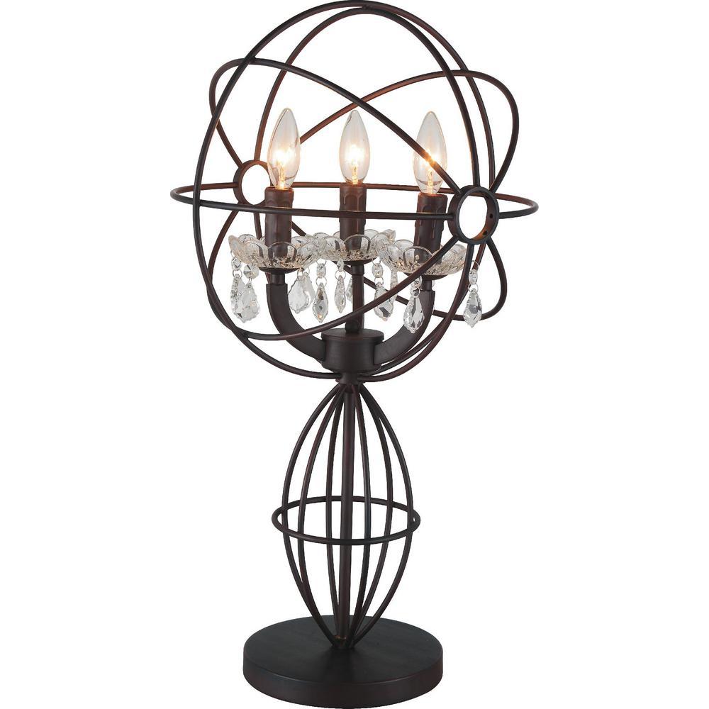 Campechia 26 in. Brown Table Lamp