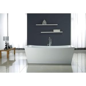 OVE Decors 5.8 ft. Terra Center Drain Bathtub in White by OVE Decors