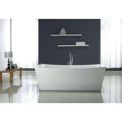 5.8 ft. Terra Center Drain Bathtub in White