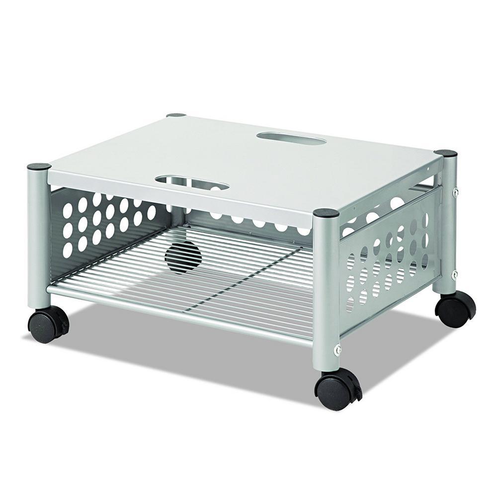 Steel Underdesk Machine Cart In Matte Gray Vf52005 The