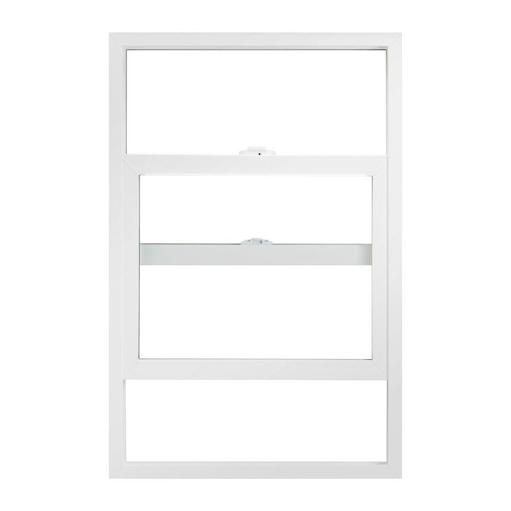 Ply gem 35 5 in x 35 5 in single hung vinyl window for Ply gem windows price list