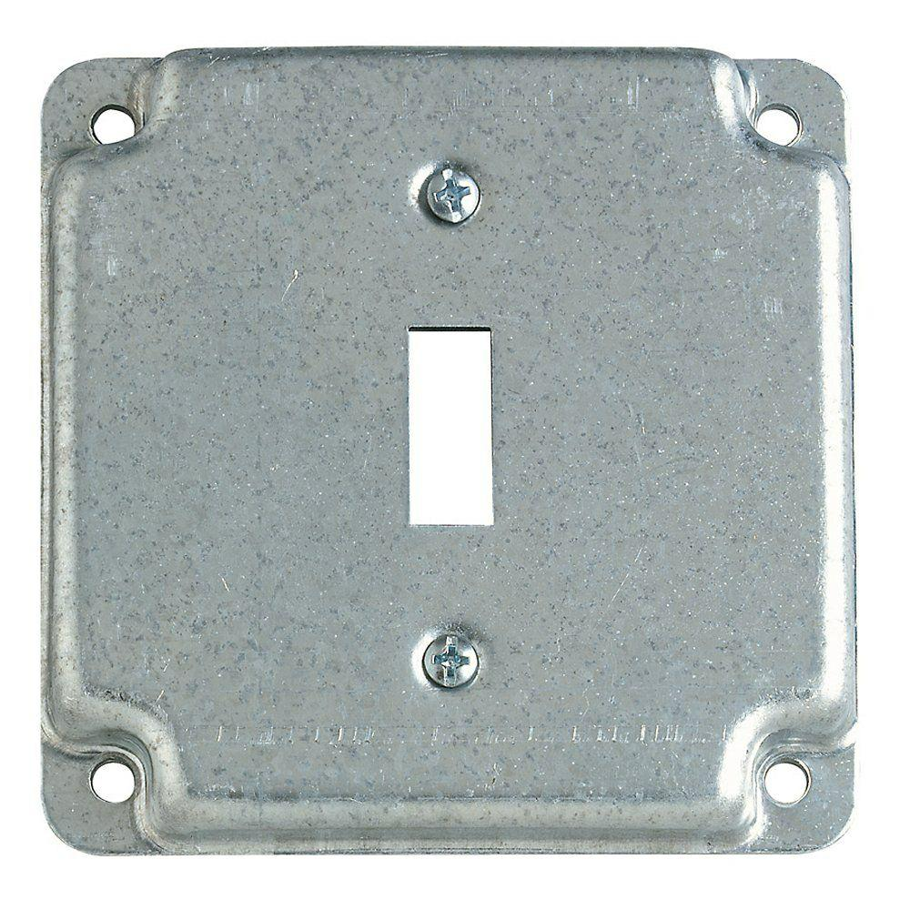 4 in. Square Box Cover For Single Toggle Switch Receptacle (Case