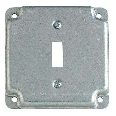 4 in. Square Box Cover For Single Toggle Switch Receptacle (Case of 10)