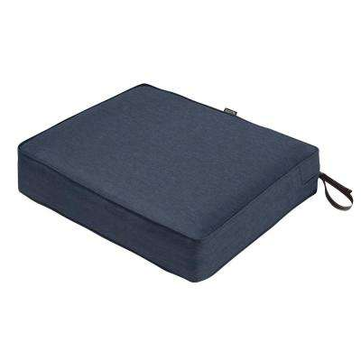 Montlake 23 in. W x 21 in. D x 5 in. Thick Heather Indigo Blue Rectangular Outdoor Seat Cushion