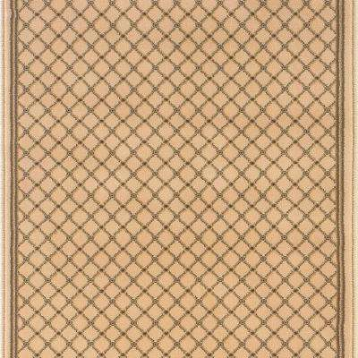 Kurdamir Derby Ivory 33 in. x Your Choice Length Roll Runner