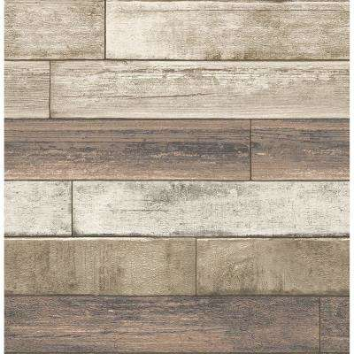 Rust Weathered Plank Wood Texture Wallpaper