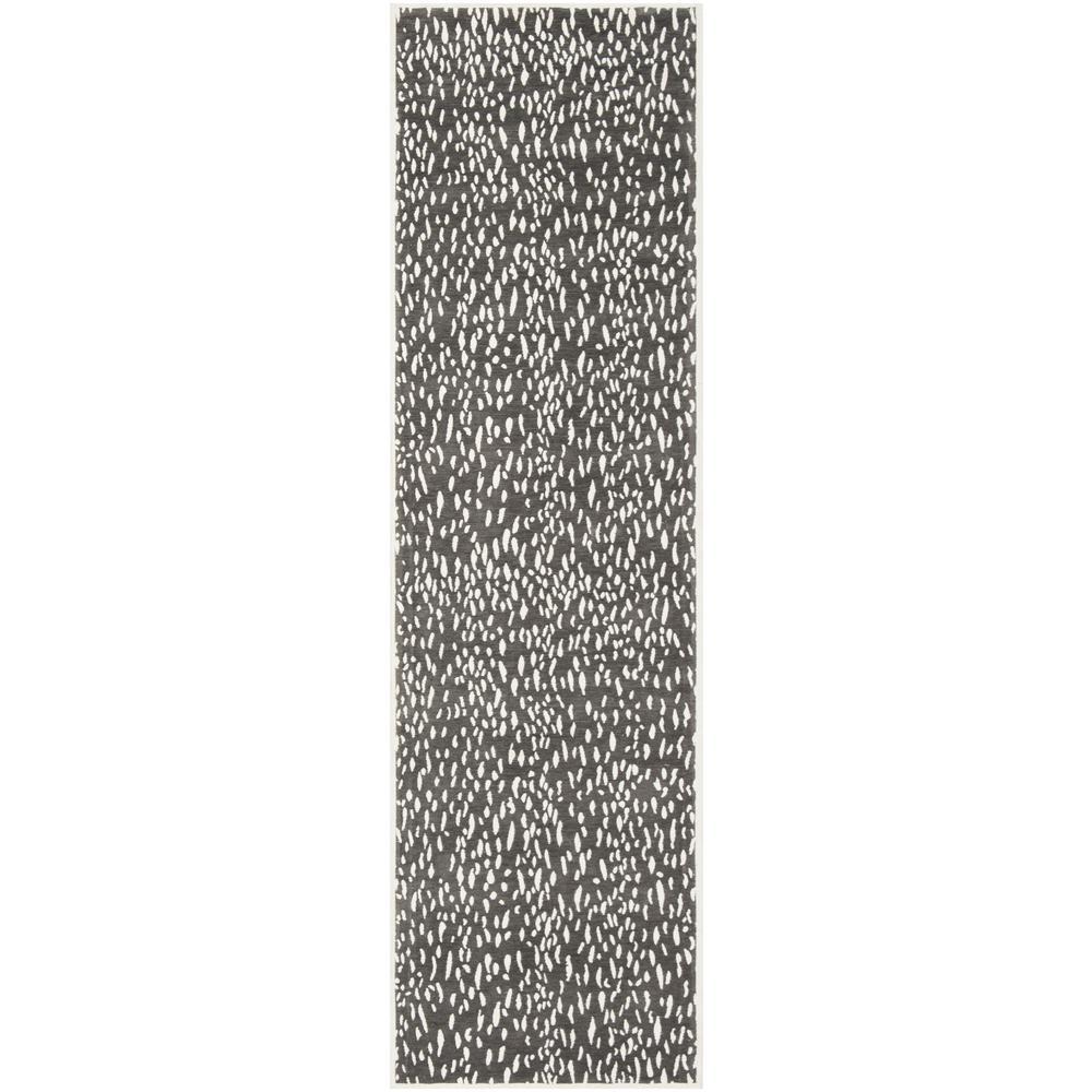 Marbella Dark Gray/Ivory 2 ft. 3 in. x 8 ft. Runner Rug