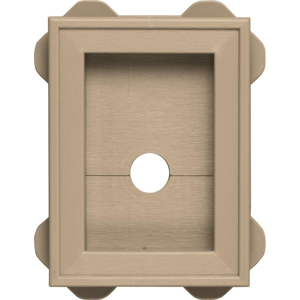 Builders Edge 5.5 in. x 8.625 in. #069 Tan Wrap Around Mounting Block