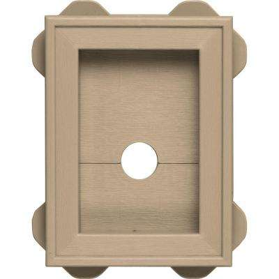 5.5 in. x 8.625 in. #069 Tan Wrap Around Mounting Block