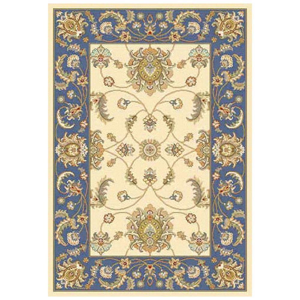 Home decorators collection versailles beige blue 7 ft 10 for Home decorators indoor outdoor rugs