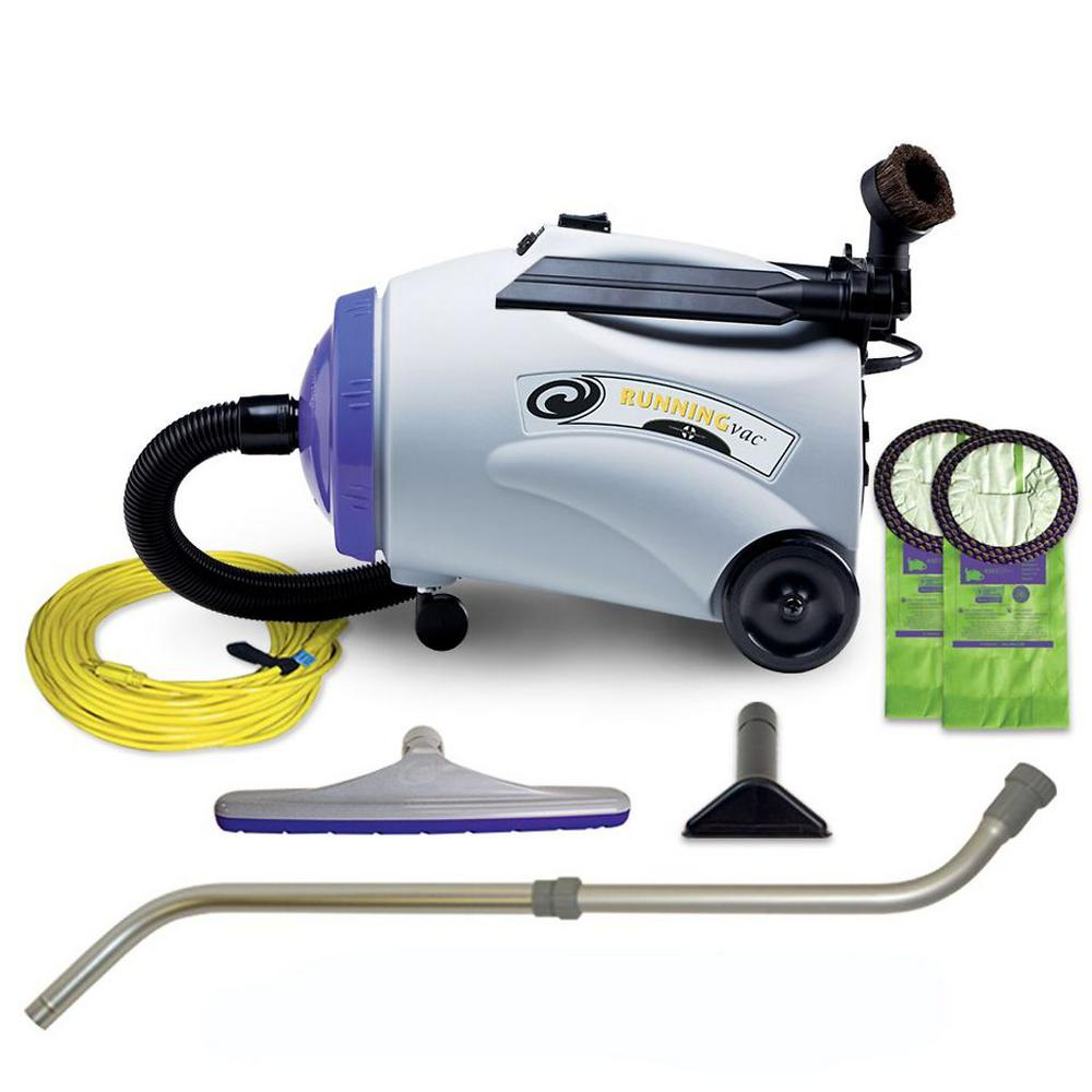ProTeam RunningVac 10 Qt. Canister Vac with Xover Multi-Surface Telescoping Wand Tool Kit ProTeam RunningVac (Canister), with 14 in. Multi-Surface Floor Tool and Telescoping Wand. With the same durable construction found in all ProTeam vacuums, the RunningVac provides exceptional cleaning strength unmatched by traditional canisters. This high performance speed canister is the perfect solution for increasing productivity when a canister is needed.