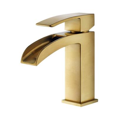 Liberty Single Hole Single-Handle Bathroom Faucet in Brushed Gold