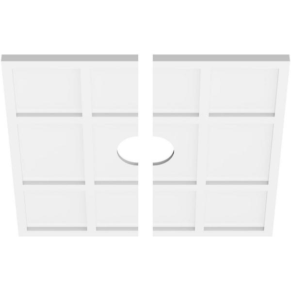 Ekena Millwork 1 In P X 8 1 4 In C X 24 In Od X 4 In Id Rubik Architectural Grade Pvc Contemporary Ceiling Medallion Two Piece Cmp24rk2 04000 The Home Depot