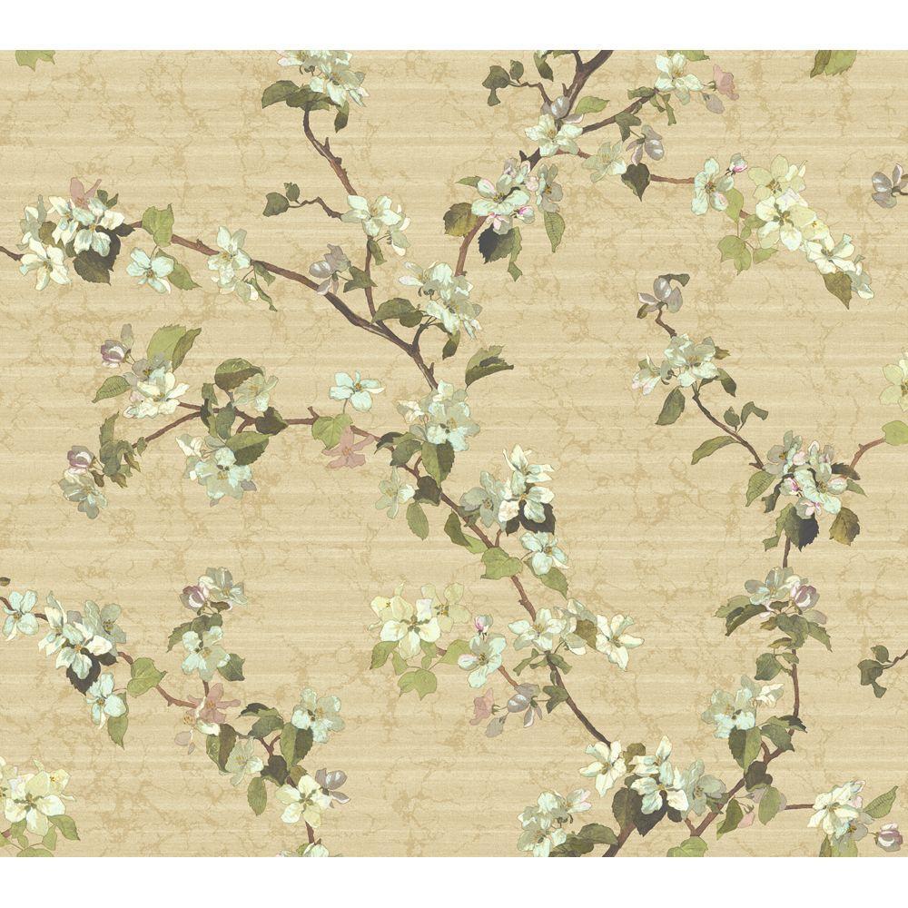 York Wallcoverings 60.75 sq. ft. Apple Blossom Wallpaper