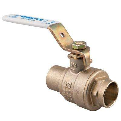 3/4 in. Brass Sweat x Sweat Full Port Solder Ball Valve