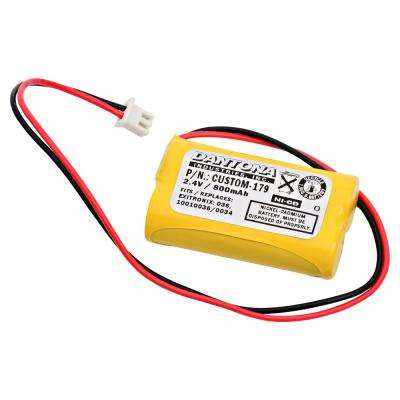 Dantona 2.4-Volt 600 mAh Ni-Cd battery for Exitronix - 10010034 Emergency Lighting