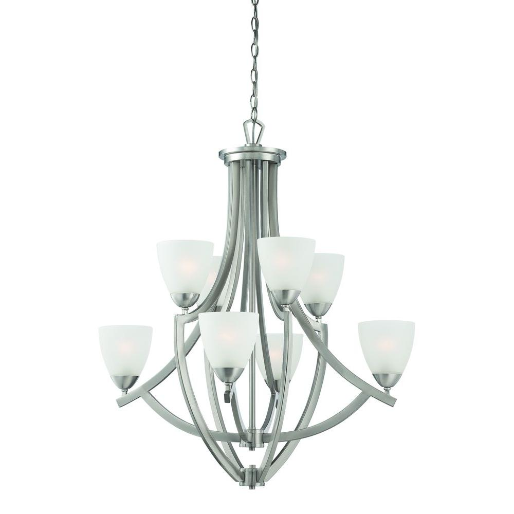 Thomas Lighting Charles 8-Light Brushed Nickel Chandelier-DISCONTINUED