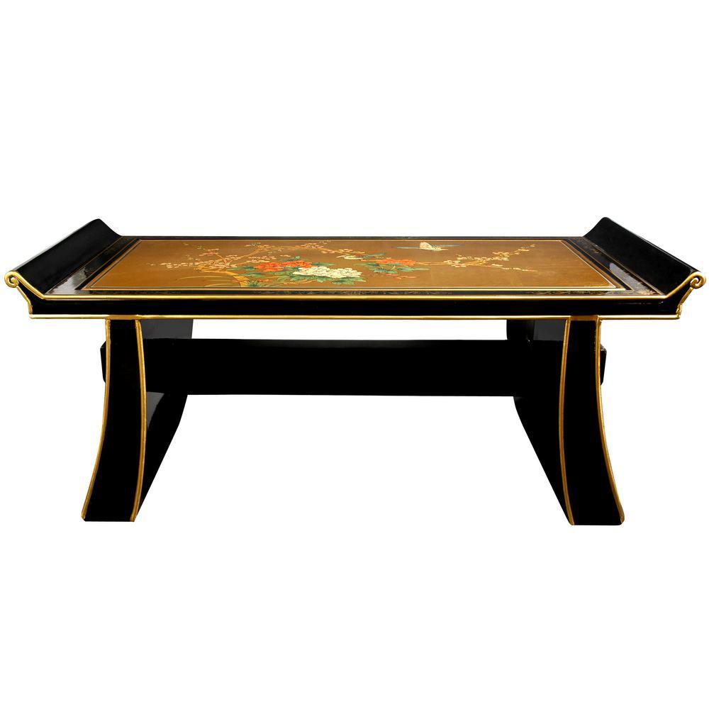 Oriental Furniture Gold Coffee Table