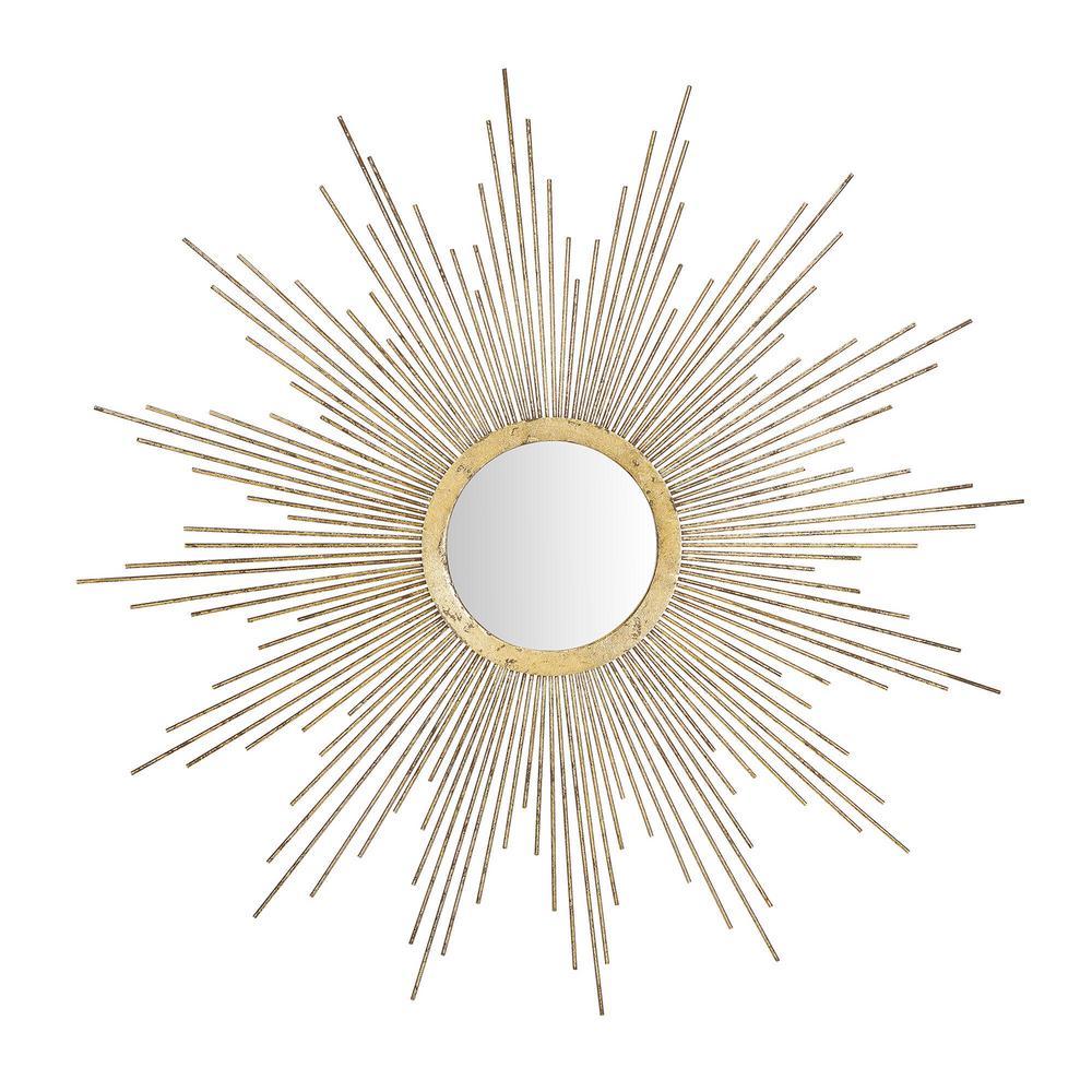StyleWell Sunburst Gold Patina Accent Mirror
