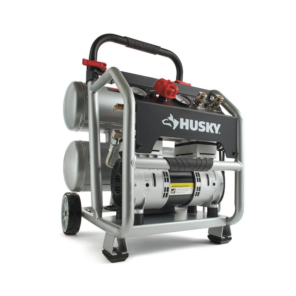 4.5 Gal. Portable Electric-Powered Silent Air Compressor