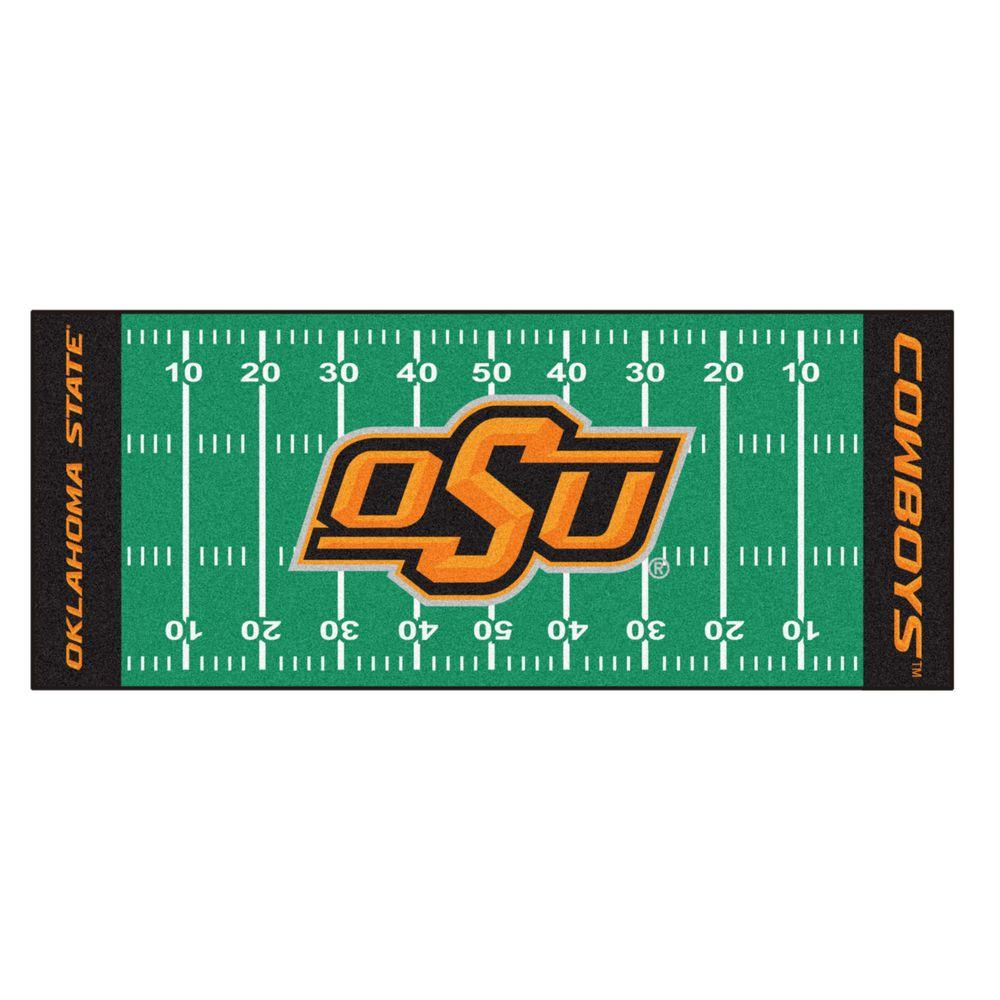 Fanmats Oklahoma State University 3 Ft X 6 Ft Football Field Runner Rug