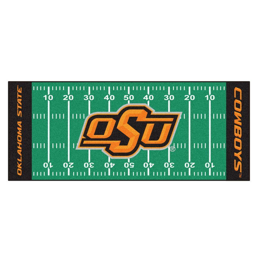 Oklahoma State University 3 ft. x 6 ft. Football Field Runner Rug