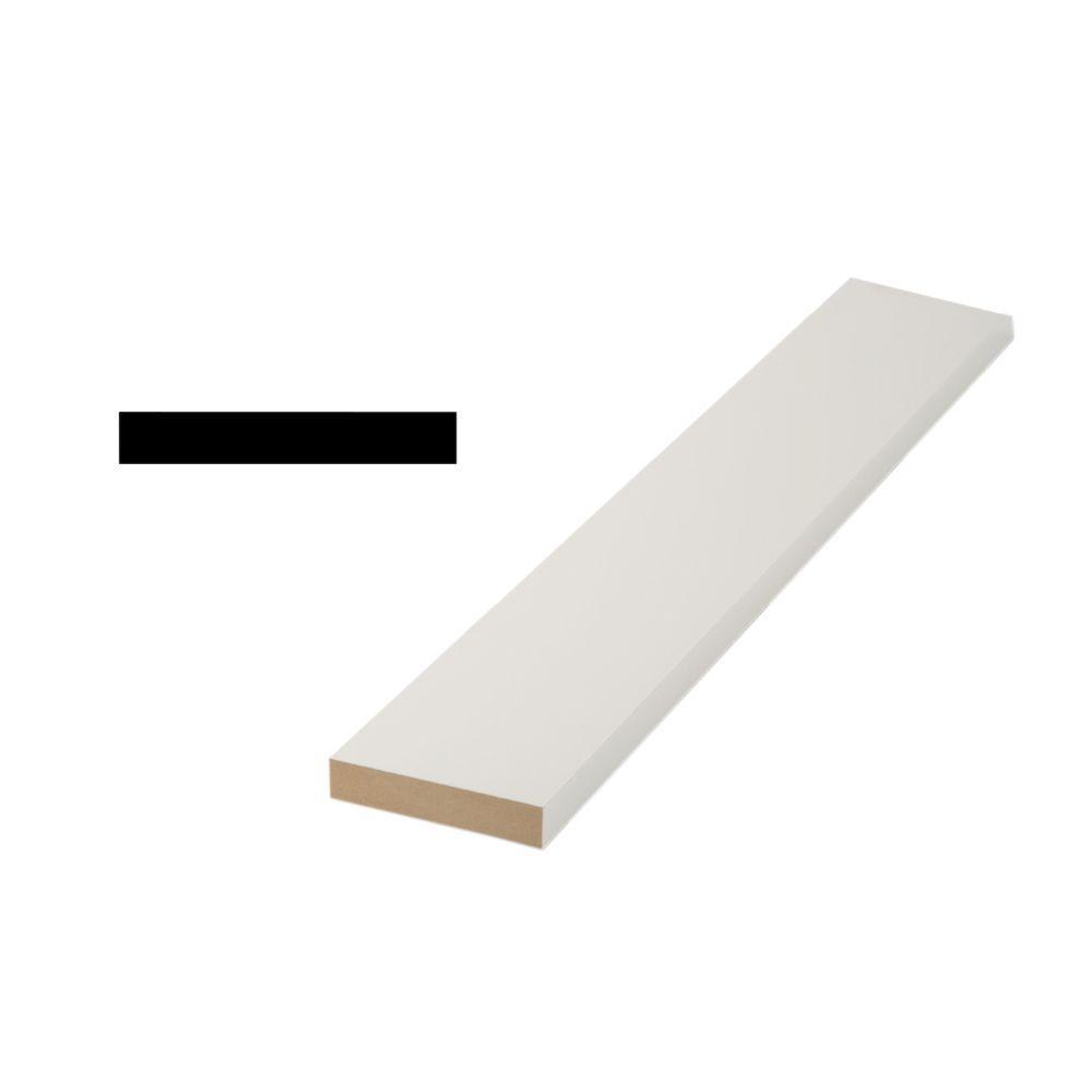 Woodgrain Millwork 1x4 11/16 in. x 3-1/2 in. x 96 in. Medium Density Fiberboard S4S Moulding Board